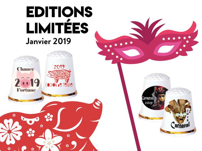 De a coudre collection Carnaval 2019 et Année du Cochon 2019