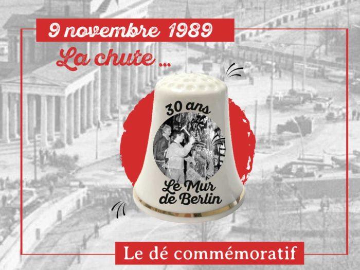 dé commemoratif pour les 30 ans de la chute du mur de Berlin